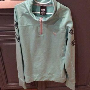 VS PINK athletic half zip sweatshirt